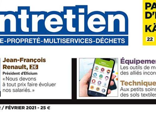 Interview du Président d'Eficium, Jean-François RENAULT, dans Bâtiment Entretien